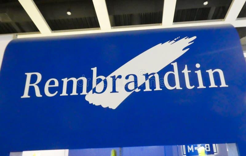 Het teken van het Rembrandtinbedrijf stock afbeeldingen
