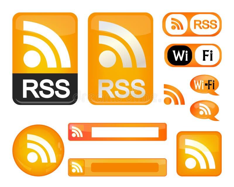 Het teken van Rss royalty-vrije illustratie