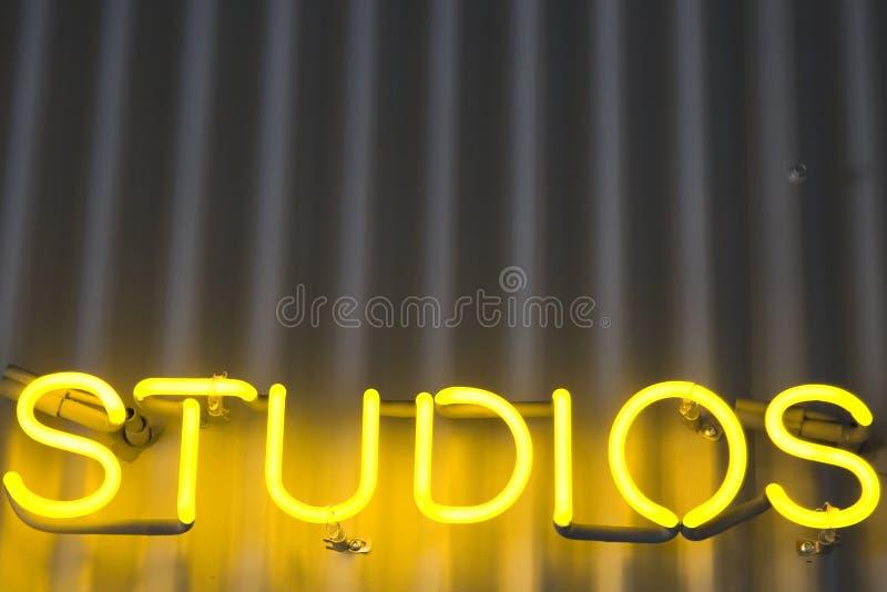 Het Teken van studio's stock fotografie