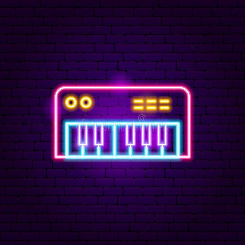 Het Teken van het synthesizerneon royalty-vrije illustratie