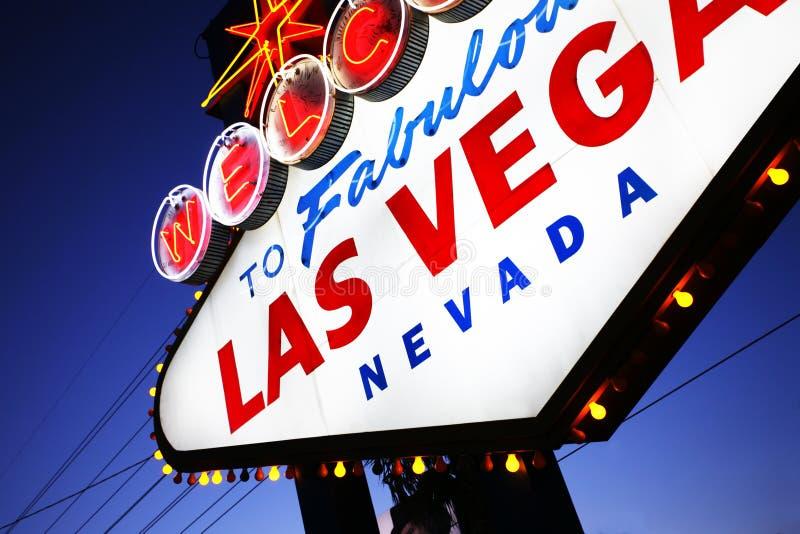Het teken van Vegas van Las stock foto
