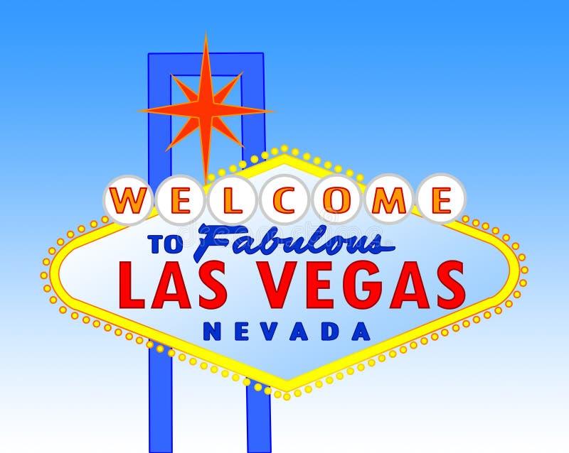 Het teken van Vegas van Las bij dag stock illustratie