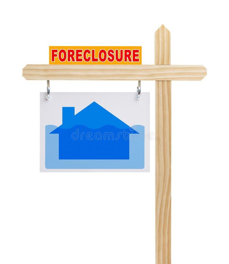 Het Teken van verhinderingsreal estate stock foto