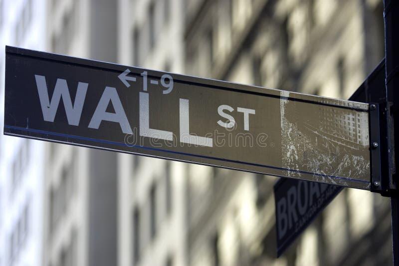 Het teken van Wall Street royalty-vrije stock foto's