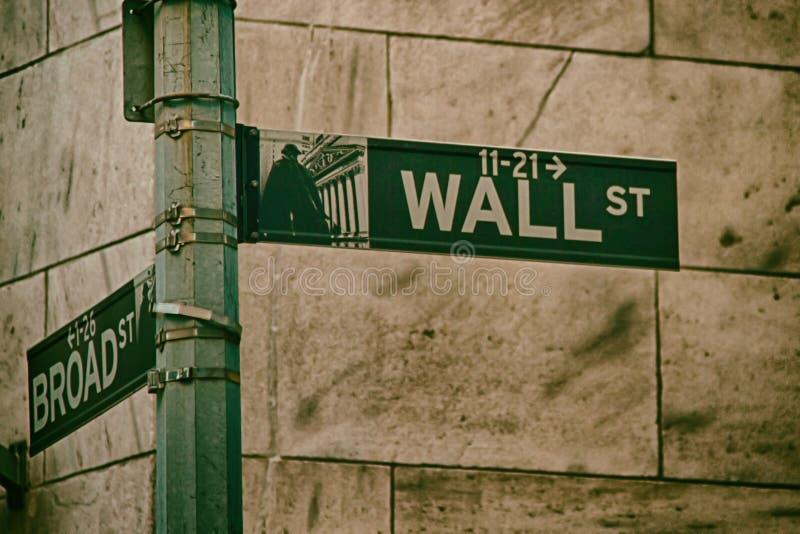 Het teken van Wall Street royalty-vrije stock afbeelding