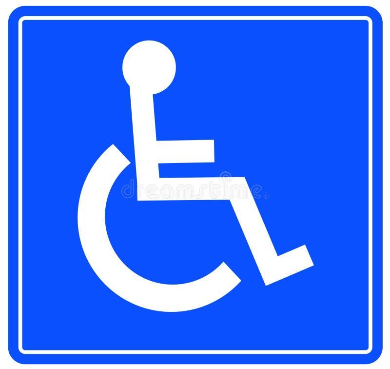 Het teken van Wheelchar royalty-vrije illustratie
