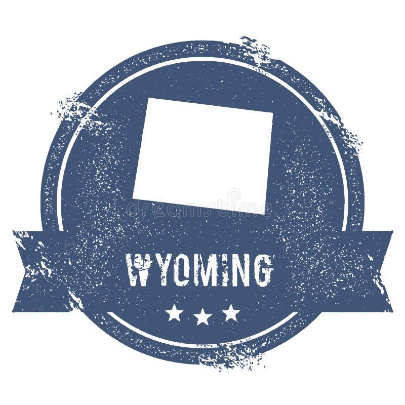 Het teken van Wyoming stock illustratie