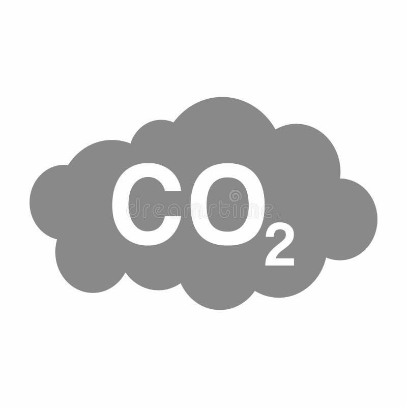 Het teken vectorontwerp van de Kooldioxideverontreiniging royalty-vrije illustratie
