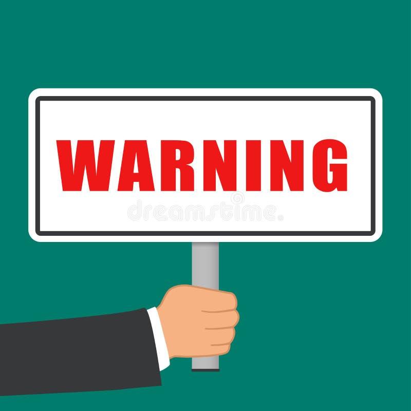 Het teken vlak concept van het waarschuwingswoord stock illustratie