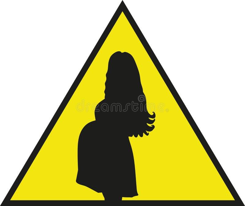 Het teken voor de auto 'Voorzichtigheid, in de auto is zwanger! ' stock fotografie