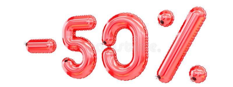 ` - 50% ` het teken vormde opblaasbaar zwemt ring vector illustratie