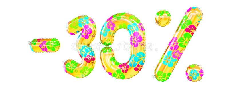 ` - 30% ` het teken vormde opblaasbaar zwemt ring vector illustratie