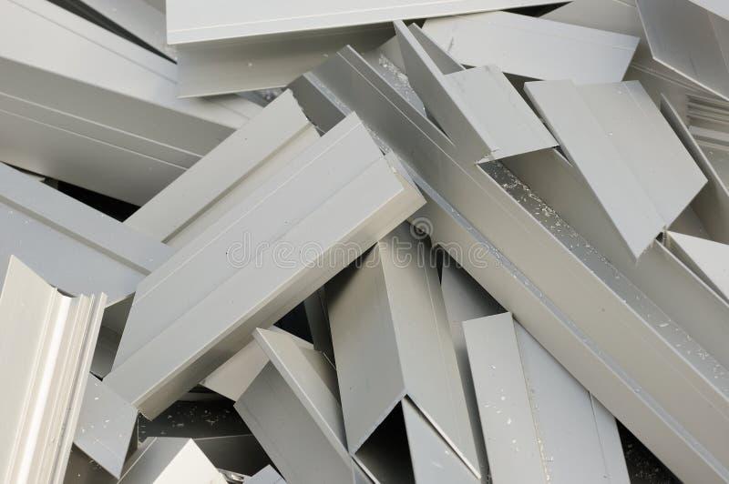 Het teken wordt gemaakt van verscheidene kleine aluminiumvlok royalty-vrije stock foto