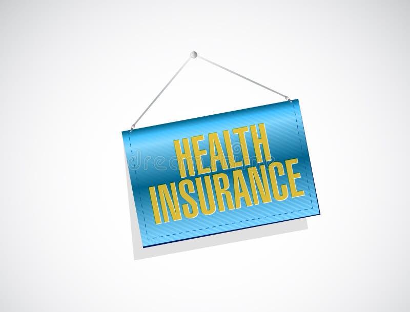 Het tekenconcept van de ziektekostenverzekeringbanner vector illustratie