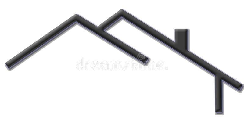 Het tekenembleem van het huis