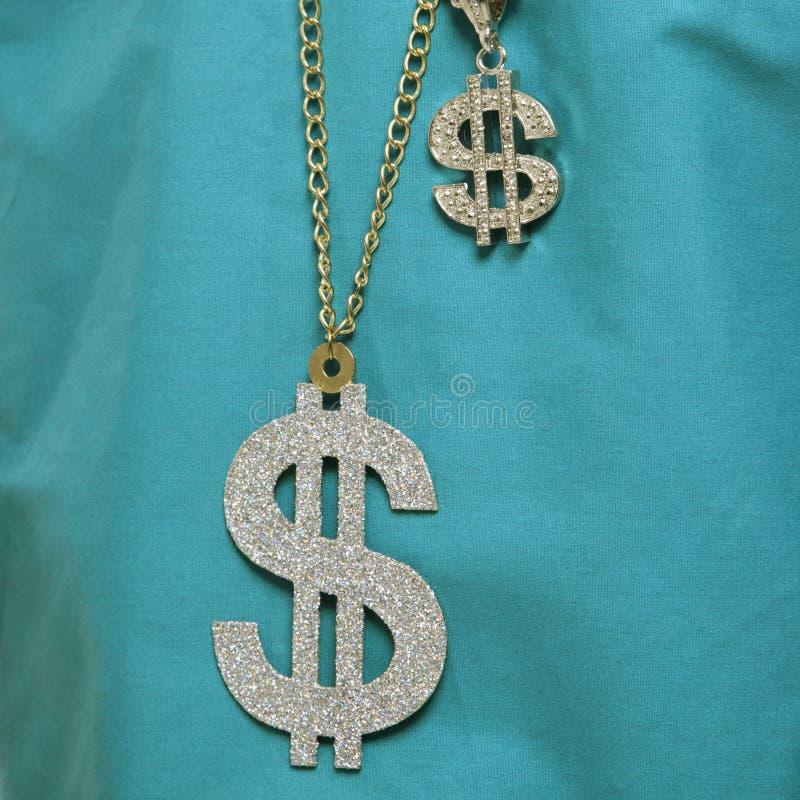 Het tekenhalsband van de dollar. royalty-vrije stock foto's