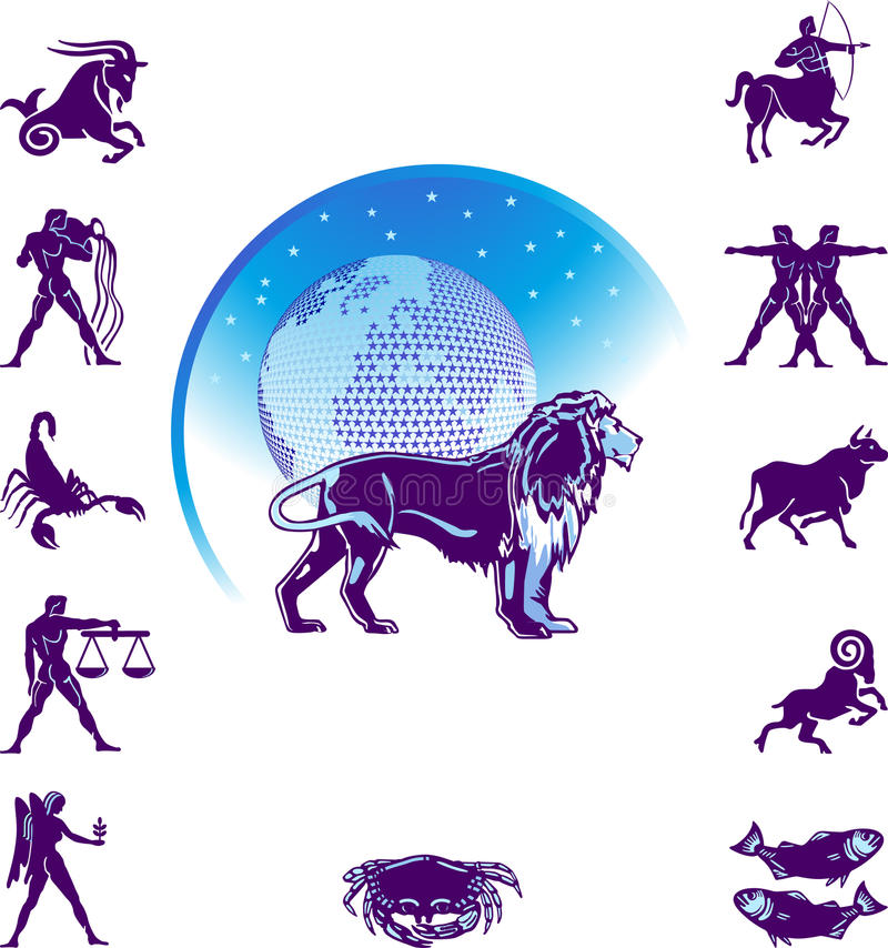 Het tekenLeeuw van de dierenriem stock illustratie