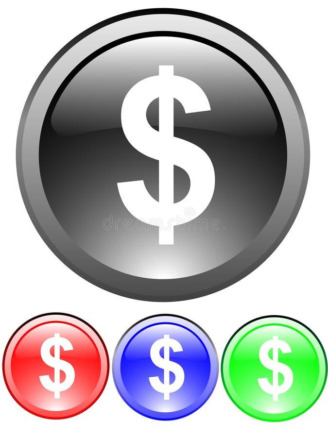 Het tekenpictogram van de dollar stock illustratie