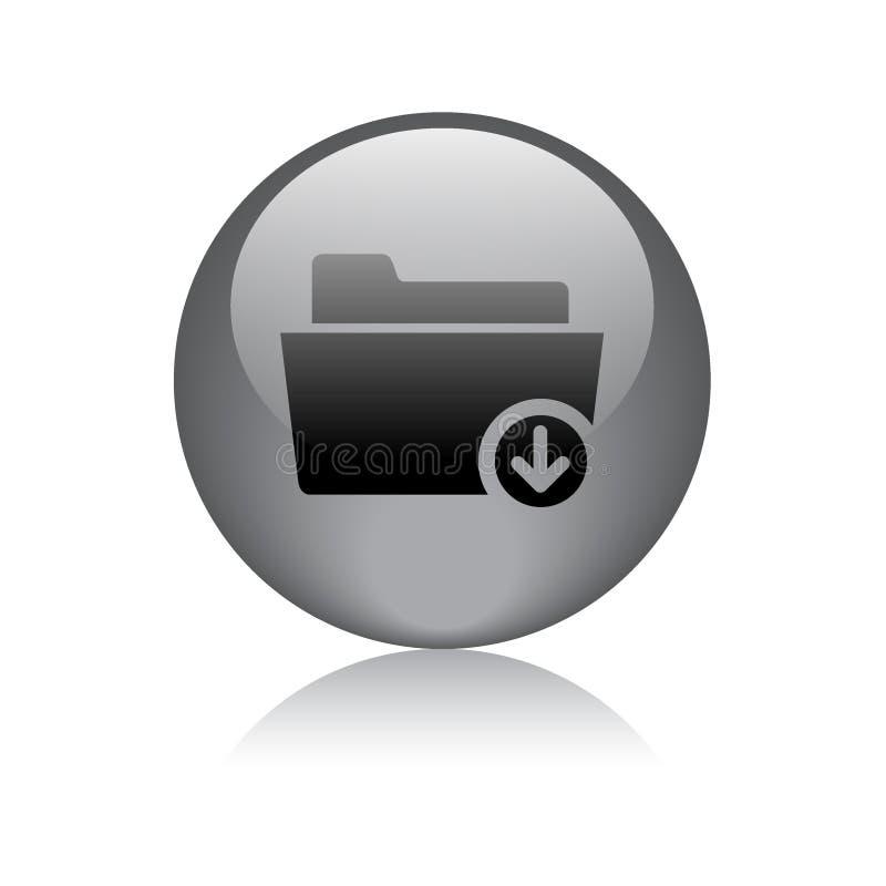 Het tekenpictogram van de downloadomslag vector illustratie