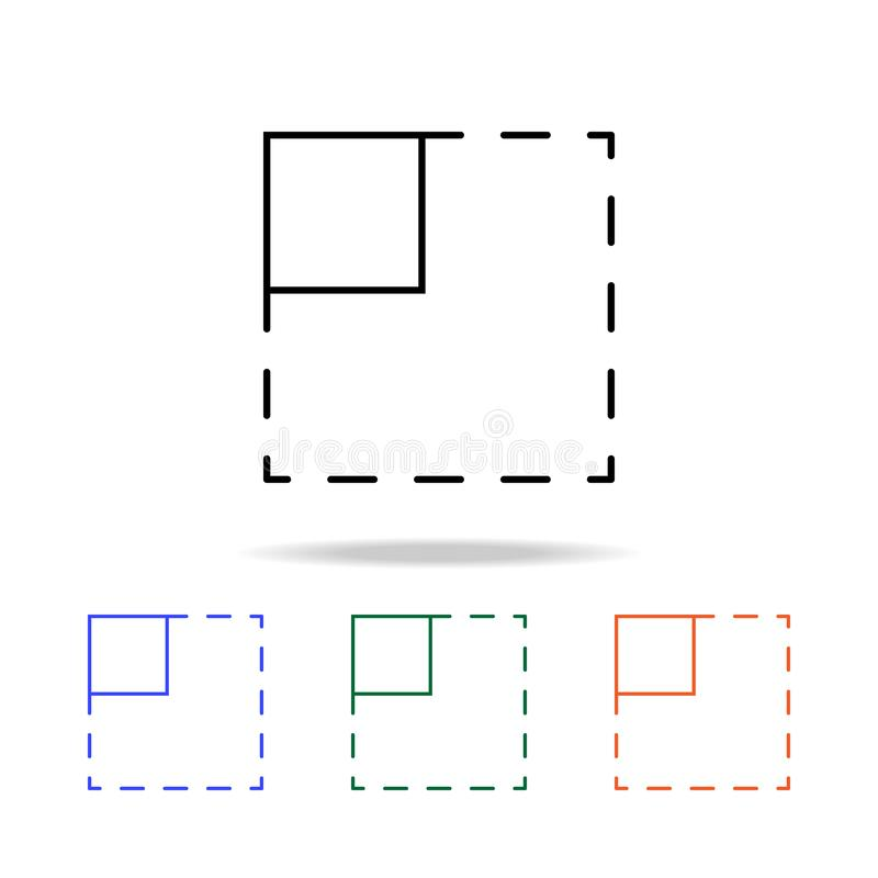 het tekenpictogram van de gebiedsselectie Elementen van eenvoudig Webpictogram in multikleur Grafisch het ontwerppictogram van de stock illustratie