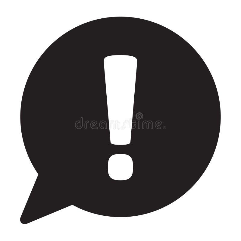 Het tekenpictogram van de uitroep Het symbool van de gevaarwaarschuwing Het pictogram van het aandachtsteken Vector stock illustratie