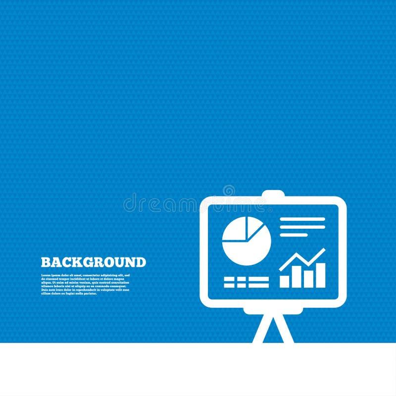 Het tekenpictogram van het presentatieaanplakbord Diagramsymbool vector illustratie