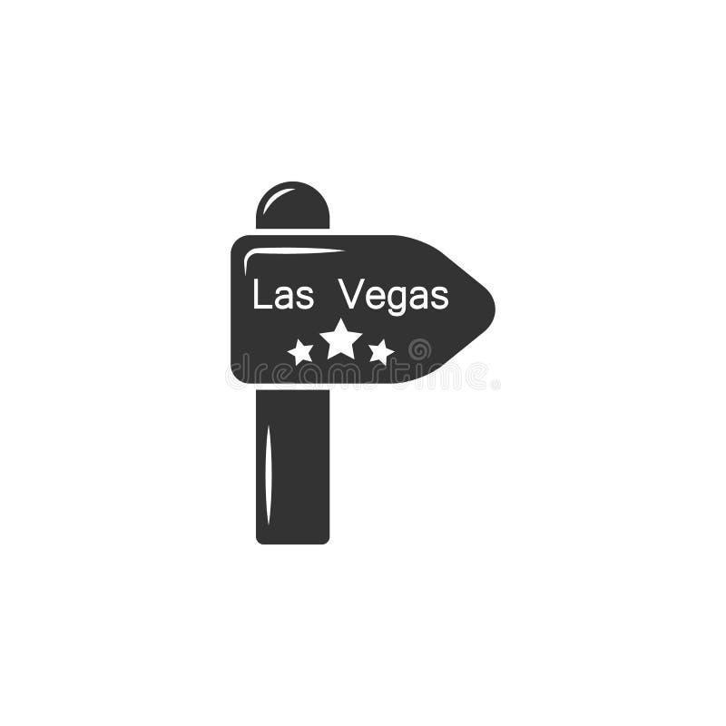 Het Tekenpictogram van Las Vegas Element van luchthavenpictogram voor mobiele concept en webtoepassingen Het gedetailleerde het T royalty-vrije illustratie