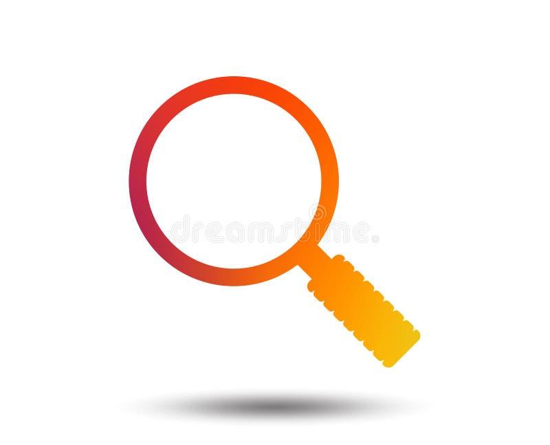 Het tekenpictogram van het Magnifierglas Gezoemhulpmiddel nearsighted vector illustratie