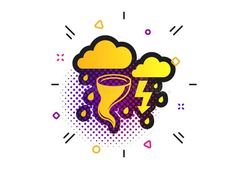 Het tekenpictogram van het onweers slechte weer Gagelorkaan Vector stock illustratie