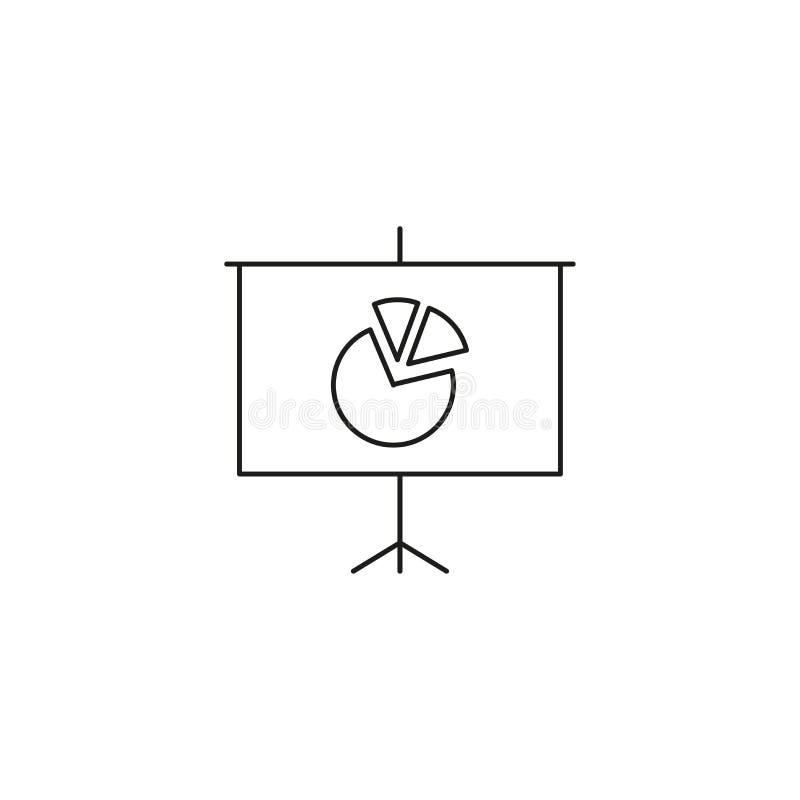 Het tekenpictogram van het presentatieaanplakbord Regeling en Diagramsymbool Grafisch element op witte achtergrond Kleuren schone royalty-vrije illustratie