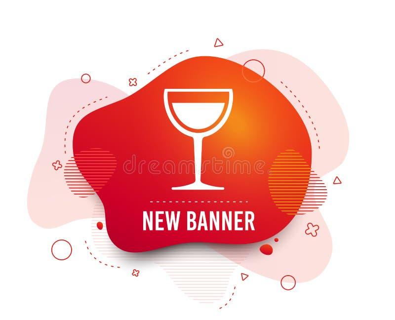 Het tekenpictogram van het wijnglas Het symbool van de alcoholdrank Vector royalty-vrije illustratie