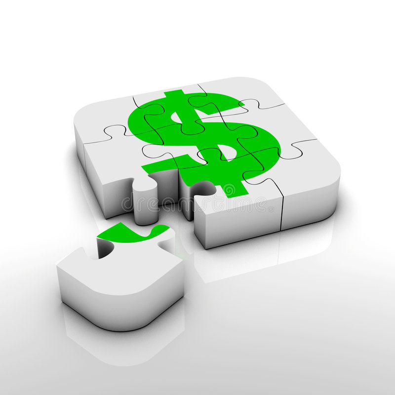 Het tekenraadsel van de dollar royalty-vrije illustratie