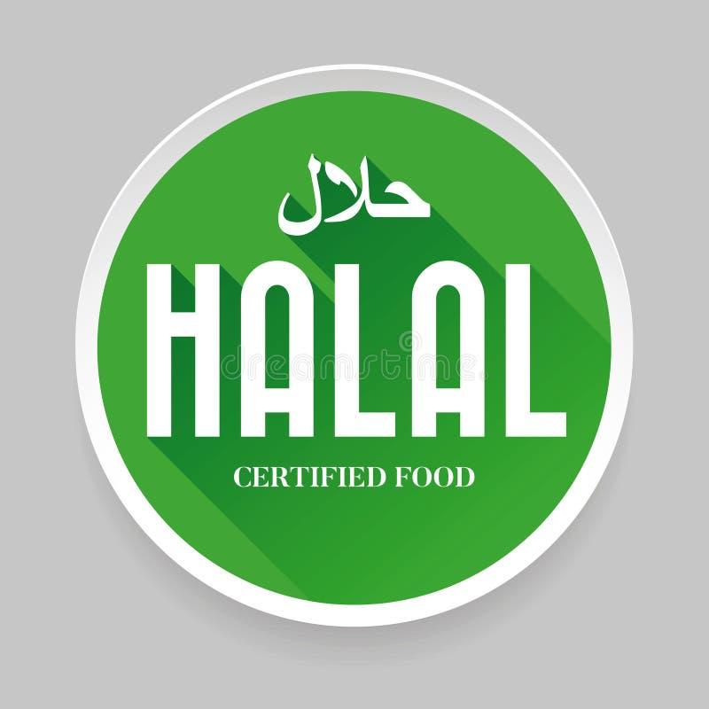 Het tekensticker van het Halalvoedsel stock illustratie