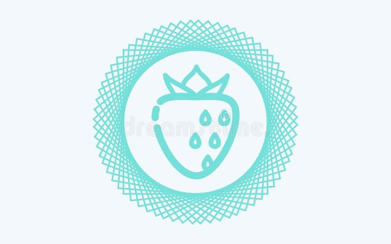 Het tekensymbool van het aardbei vectorpictogram stock illustratie