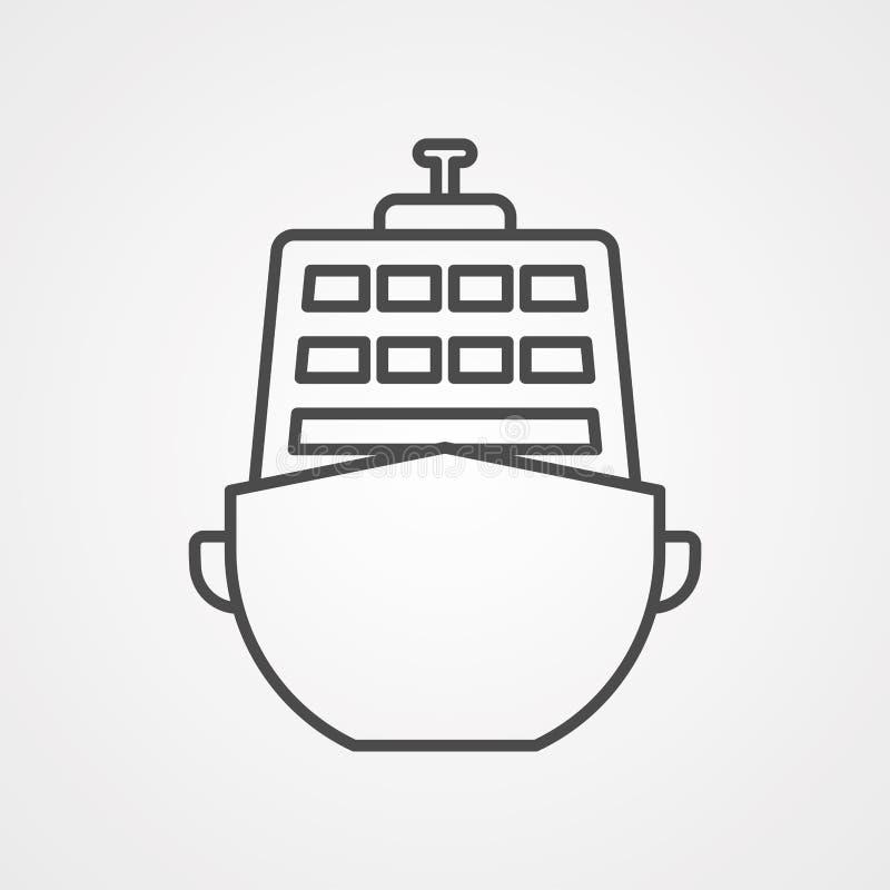 Het tekensymbool van het cruise vectorpictogram stock illustratie