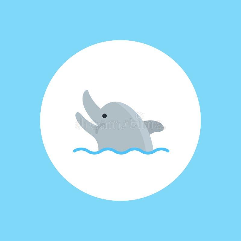 Het tekensymbool van het dolfijn vectorpictogram stock illustratie