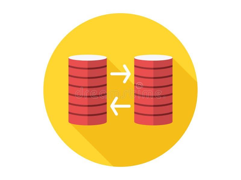 Het tekensymbool van het gegevensbestand vectorpictogram royalty-vrije illustratie