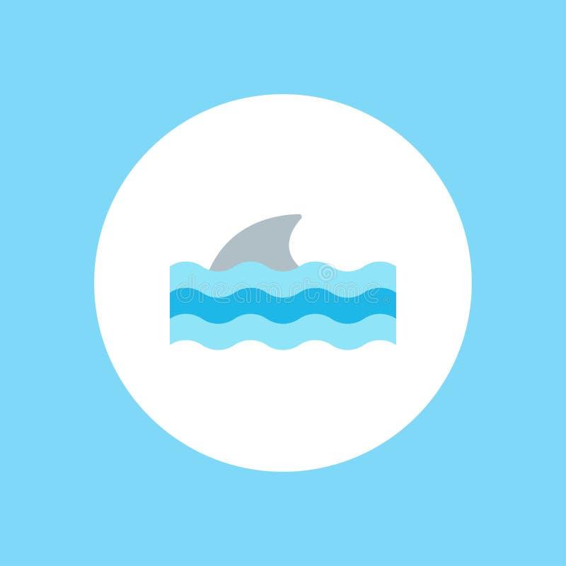 Het tekensymbool van het haai vectorpictogram royalty-vrije illustratie