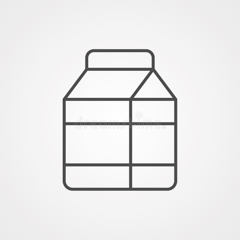 Het tekensymbool van het melk vectorpictogram stock illustratie