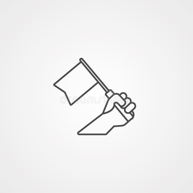 Het tekensymbool van het overwinnings vectorpictogram royalty-vrije illustratie