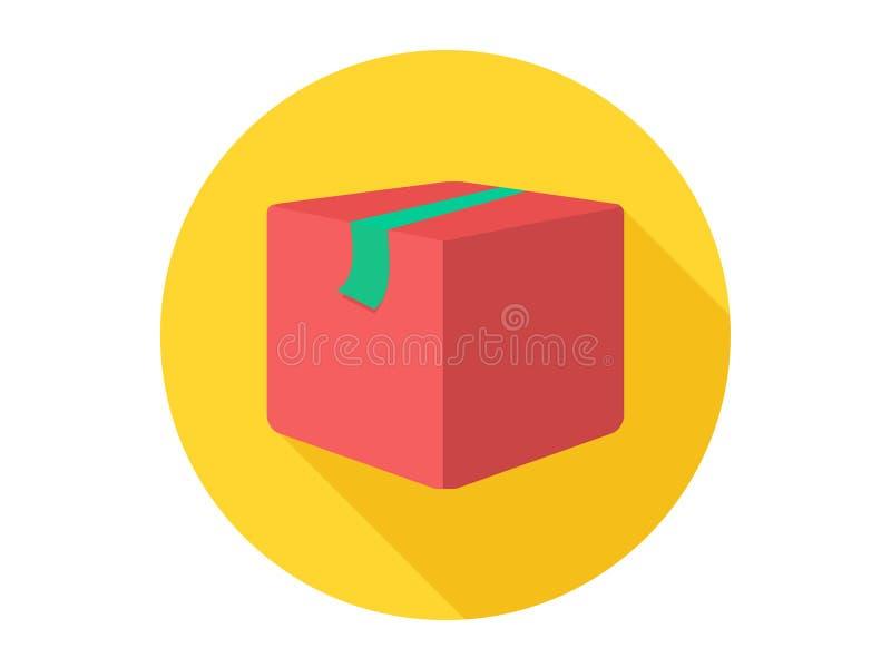 Het tekensymbool van het pakket vectorpictogram royalty-vrije illustratie