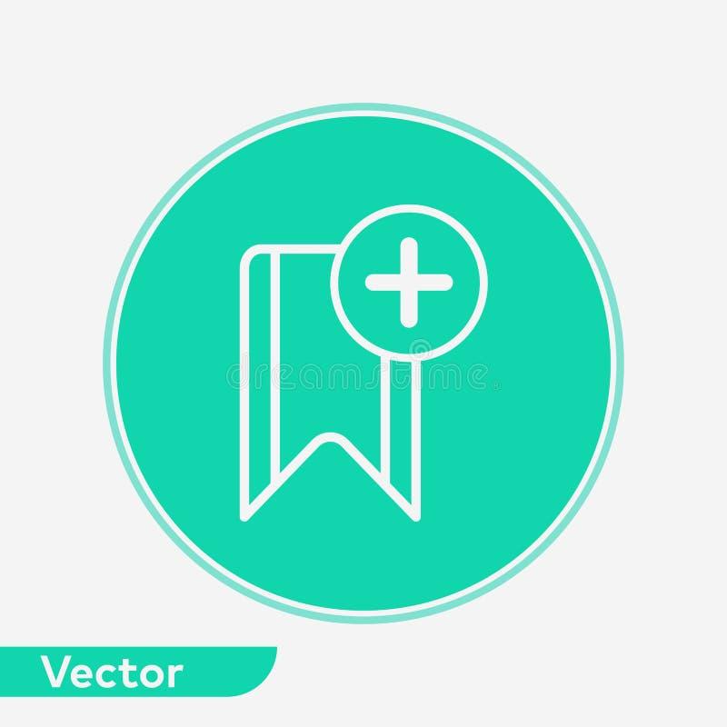 Het tekensymbool van het referentie vectorpictogram royalty-vrije illustratie
