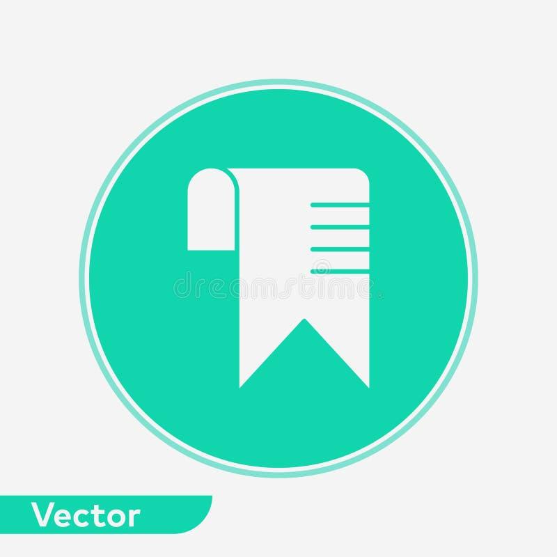 Het tekensymbool van het referentie vectorpictogram stock illustratie