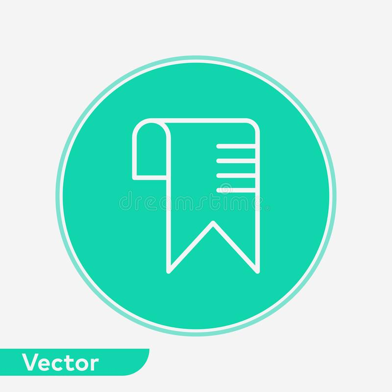 Het tekensymbool van het referentie vectorpictogram vector illustratie
