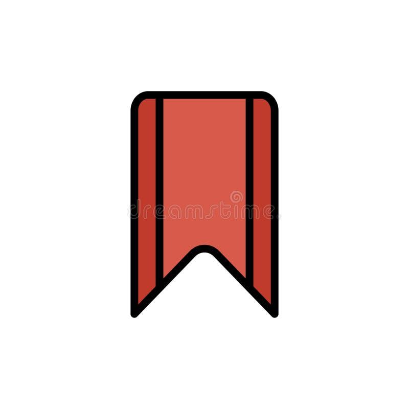 Het tekensymbool van het referentie vlak vectorpictogram stock illustratie