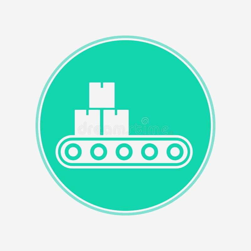 Het tekensymbool van het transportband vectorpictogram royalty-vrije illustratie