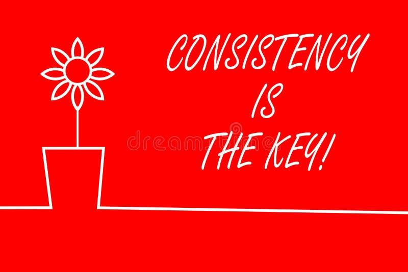 Het tekstteken die Consistentie tonen is de Sleutel Conceptuele foto door Gewoonte en van Breaking Bad Goede Degenen Te vormen vector illustratie