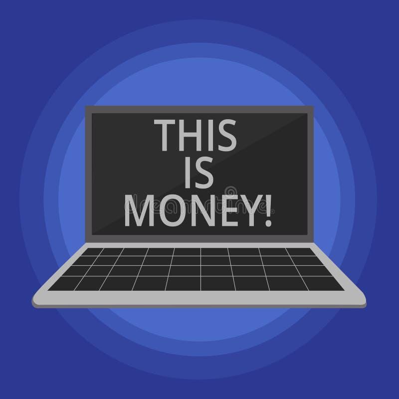 Het tekstteken die dit tonen is Geld Conceptuele foto Grote opbrengsten van het werk of investerings de inkomens van Goedinkomens vector illustratie