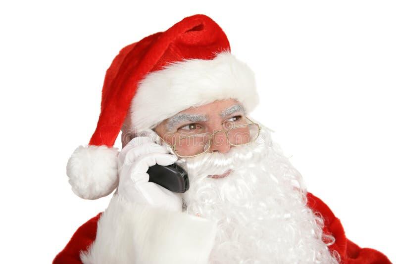Het Telefoongesprek van de kerstman royalty-vrije stock afbeeldingen