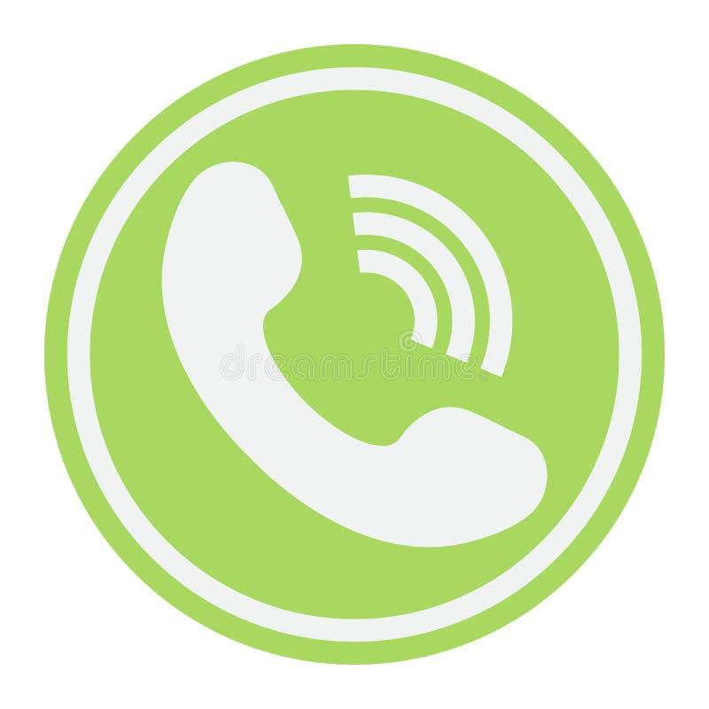 Het Telefoongesprek vlak pictogram, contacteert ons en website royalty-vrije illustratie